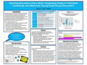 Teaching Discussion Oracy Skills: Supporting Pupils to Participate Confidently and Effectively During Small Group Discussion.