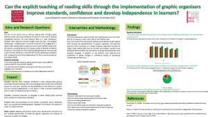 Can the explicit teaching of reading skills through the implementation of graphic organisers improve Literacy standards, confidence and develop independent learners?